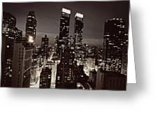 New York After Dark Greeting Card by Ariane Moshayedi