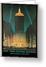 New York Central Building Greeting Card by Chesley Bonestell