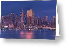 New York City Greeting Card by Kirit Prajapati