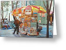 New York City Red Hots Greeting Card by Ann Caudle