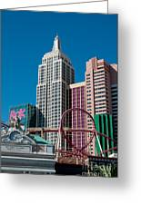 New York New York Hotel Greeting Card by Andy Smy