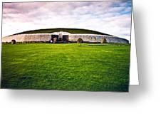 Newgrange Morning Greeting Card by Douglas Barnett