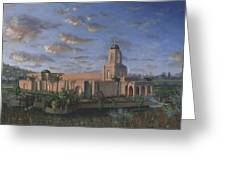 Newport Beach Temple Greeting Card by Jeff Brimley