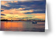 Newport Gold Greeting Card by Joann Vitali