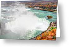 Niagara Falls Autumn Greeting Card by Charline Xia