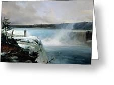 Niagara Falls Greeting Card by Jean Charles Joseph Remond