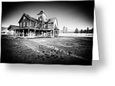 Nicolas Haunted House IIb Greeting Card by Paul W Sharpe Aka Wizard of Wonders