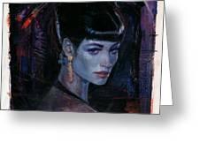Night Club Girl 1 Greeting Card by Bill Mather