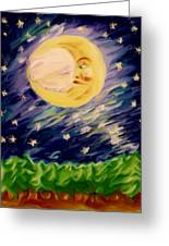 Night Moon Greeting Card by Shelley Bain