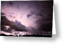 Night Storm Greeting Card by Amanda Barcon