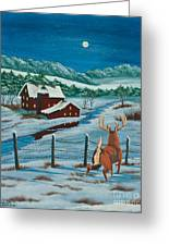 Night Watch Greeting Card by Charlotte Blanchard