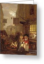 Night Greeting Card by William Hogarth
