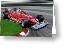 Niki Lauda F-1 Ferrari Greeting Card by David Kyte