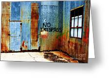 No Trespass Greeting Card by Ronnie Glover