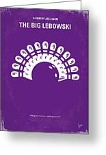 No010 My Big Lebowski Minimal Movie Poster Greeting Card by Chungkong Art