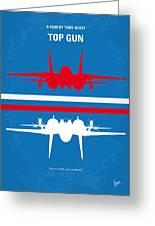 No128 My Top Gun Minimal Movie Poster Greeting Card by Chungkong Art