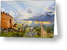 Noah's Ark Greeting Card by Cheryl Allen