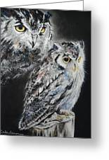 Noble Owl Guardian Of The Afterlife Greeting Card by Carla Carson