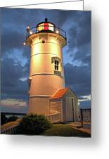 Nobska Point Lighthouse Greeting Card by Roupen  Baker