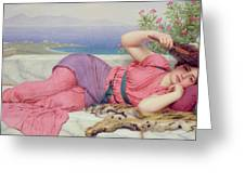 Noon Day Rest Greeting Card by John William Godward