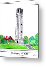 North Carolina State Greeting Card by Frederic Kohli