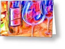 North Carolina Wine Greeting Card by Marilyn Sholin