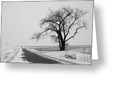 North Dakota Scenic Highway Greeting Card by Bob Mintie