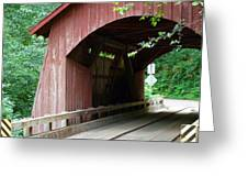 North Fork Yachats Bridge 2 Greeting Card by Methune Hively