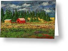 North Idaho Farm Greeting Card by David Patterson