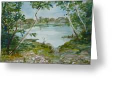 North Lake Greeting Card by Dorothy Herron