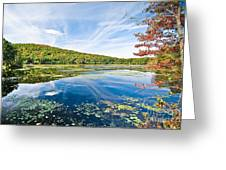 Northern New Jersey Lake Greeting Card by Ryan Kelly