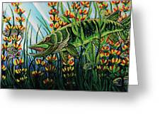 Northern Pike Greeting Card by Bob Crawford