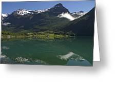 Norway, Briksdal Glacier At Jostedal Greeting Card by Keenpress