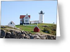 Nubble Light Greeting Card by Armand Hebert