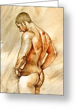 Nude 41 Greeting Card by Chris  Lopez