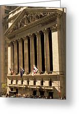 Ny Stock Exchange Greeting Card by Gerard Fritz