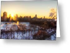 Ny Winter Panaroma Greeting Card by Ariane Moshayedi