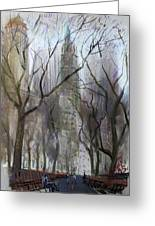 Nyc Central Park 1995 Greeting Card by Ylli Haruni