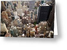 Nyc Cityscape Greeting Card by Nina Papiorek