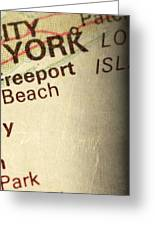 Nyc Enlarged - Right Panel Of 3 Greeting Card by ELITE IMAGE photography By Chad McDermott