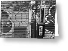 Nyc Graffiti Blk N Wht Greeting Card by Chuck Kuhn
