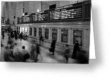 Nyc Grand Central Station Greeting Card by Nina Papiorek