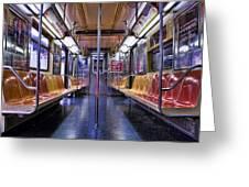 Nyc Subway Greeting Card by Kelley King
