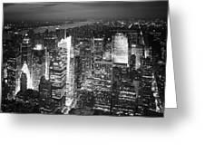 NYC Times Square Greeting Card by Nina Papiorek