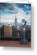 Nyc Viewpoint Greeting Card by Nina Papiorek