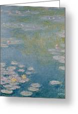Nympheas At Giverny Greeting Card by Claude Monet