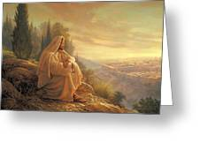 O Jerusalem Greeting Card by Greg Olsen