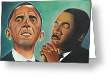 Obama and King Greeting Card by Harry Ellis