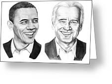 Obama Biden Greeting Card by Murphy Elliott