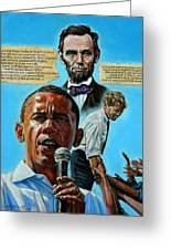 Obamas Heritage Greeting Card by John Lautermilch